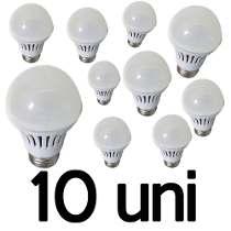 Kit 10 Lâmpada Led Bulbo 9 Watts
