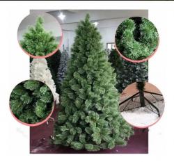 Árvore Pinheiro De Natal Luxo Verde Nevada 180cm