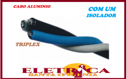 Cabo Alumínio Multiplex Triplex 10mm Neutro Isolado