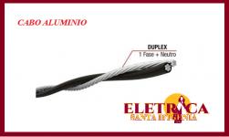 Cabo Aluminio Multiplex Duplex 10mm com Neutro Nu