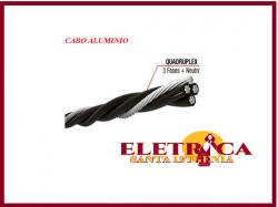 Cabo Aluminio Multiplex Quadriplex 25mm com Neutro Nu