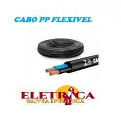 Cabo PP Flexivel 2x2,5mm Rolo Com 100 Metros Preto
