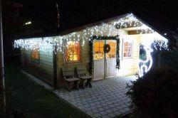 Cascata Fixa com 400 LEDs Fio Branco 10 Metros Branco Frio Natal